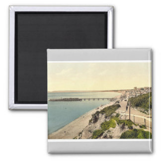From the East Cliff, Bournemouth, England vintage Magnet