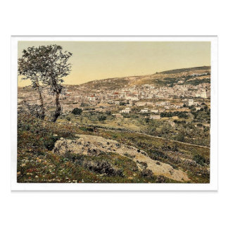 From the east, Nazareth, Holy Land, (i.e., Israel) Postcard