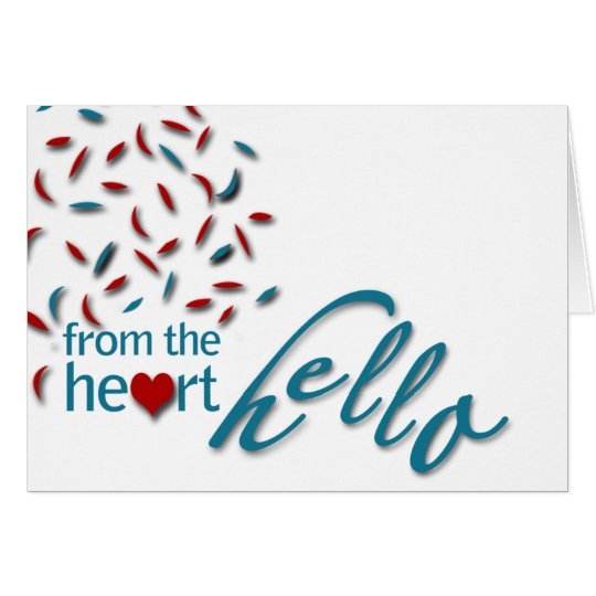 From the heart hello card