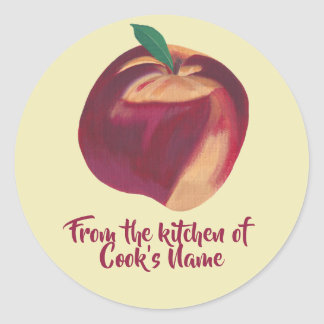 From the Kitchen of Personalized Peach Lid Sticker