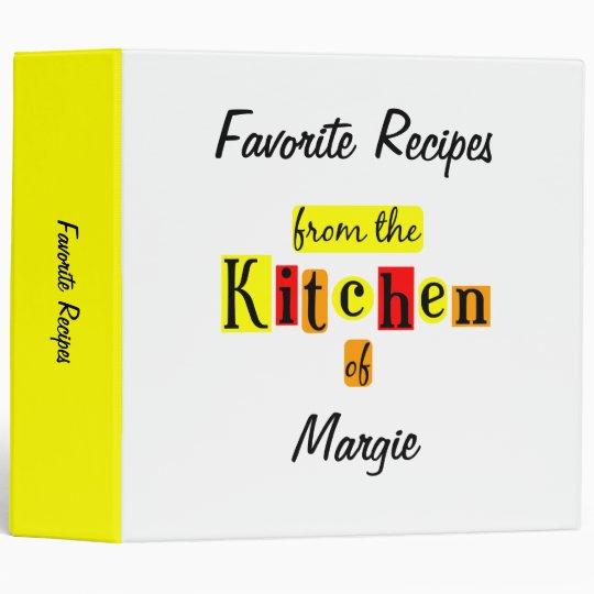 From the Kitchen of Retro Custom Recipe Binder