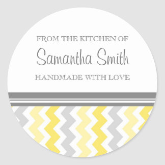 From the Kitchen of Sticker Yellow Grey Chevrons