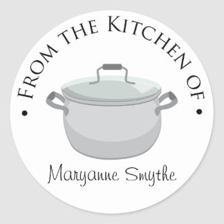 From the Kitchen of - Stock Pot Classic Round Sticker
