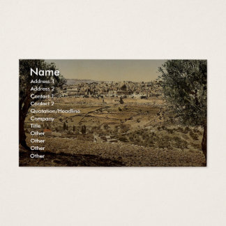 From the Mount of Olives, general view, Jerusalem, Business Card
