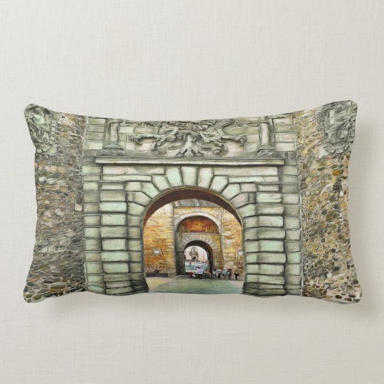 From the present to the past. lumbar pillow