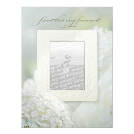 From this Day Forward Hydrangea Wedding Poster Photo Art