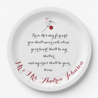From this day Forward Paper Plate