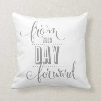 From This Day Forward Throw Pillow
