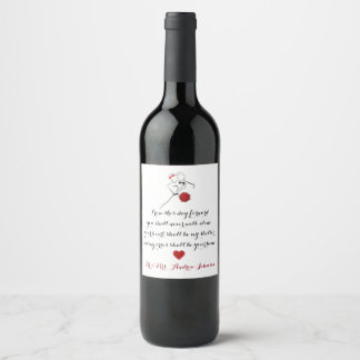 From this day forward wine label