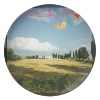 From Tuscany With Love Plate