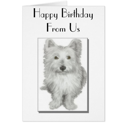'From Us' Birthday Card