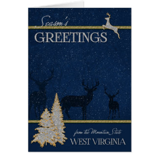 from West Virginia the Mountain State Deer Card