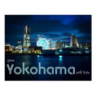 From Yokohama Minatomirai With Love Bay Port Japan Postcard