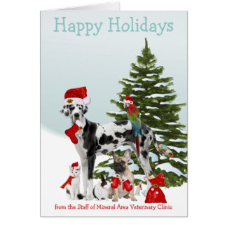 From Your Veterinarian Santa Pets Card