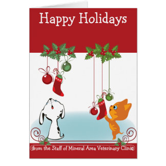 From Your Veterinary Clinic Holiday Greeting Pets Card
