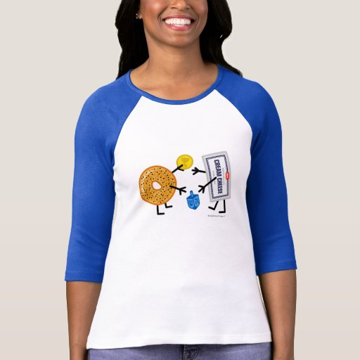 Fromage de bagel et fondu - Hanoukka T-shirts