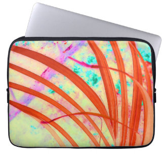 Fronds Go Red Laptop Sleeve