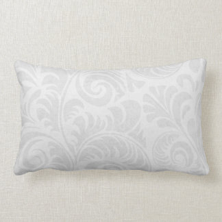 Fronds Lumbar Cushion in Grey