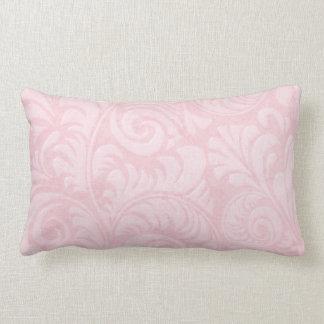 Fronds Lumbar Cushion in Rose Pink