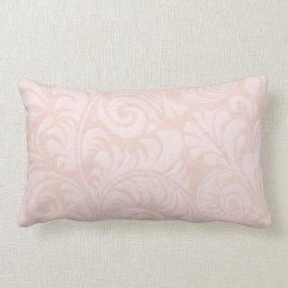 Fronds Lumbar Cushion in Salmon Pink