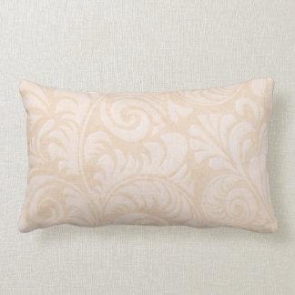 Fronds Lumbar Cushion in Tangerine
