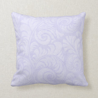 Fronds Throw Cushion in Blue