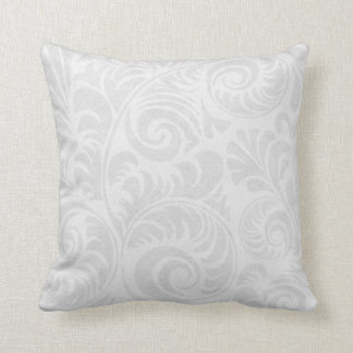 Fronds Throw Cushion in Grey