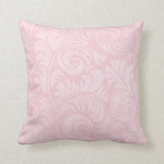 Fronds Throw Cushion in Rose Pink