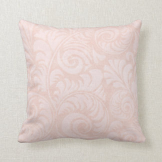 Fronds Throw Cushion in Salmon Pink
