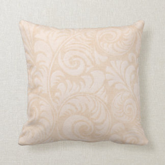 Fronds Throw Cushion in Tangerine