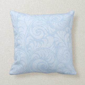 Fronds Throw Cushion in Turquoise