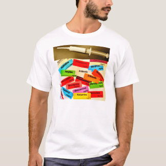 Front and Back - Anaesthetic Drugs and Labels T-Shirt
