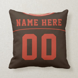 Front and Back Numbers Football Jersey Pillow