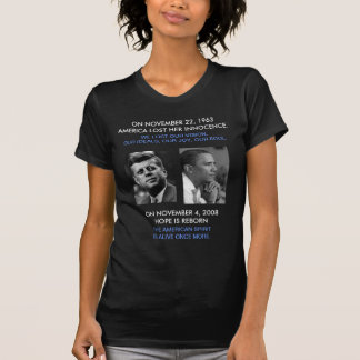 front/back JFK OBAMA, American Spirit speech quote Shirts