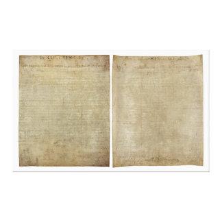 Front & Back ORIGINAL Declaration of Independence Canvas Print