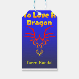 """Front Cover of """"To Love a Dragon."""" Pack Of Gift Tags"""