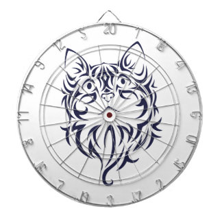 Front Facing Cat Kitten Face Stencil Dartboard