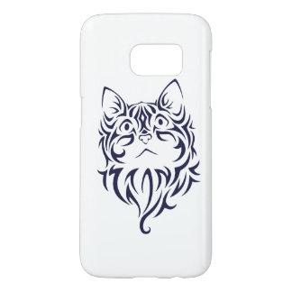 Front Facing Cat Kitten Face Stencil Samsung Galaxy S7 Case