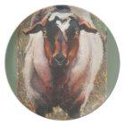 Front facing Goat melamine plate