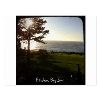 Front lawn at Esalen, Big Sur Postcard