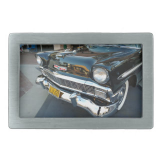 Front of a Classic 1956 Chevy Bel Air Hot Rod Belt Buckles
