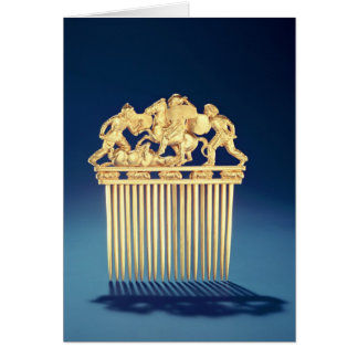 Front of a Scythian comb Card