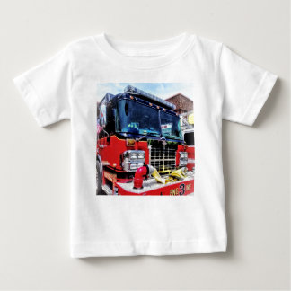 Front of Fire Truck With Hose Baby T-Shirt