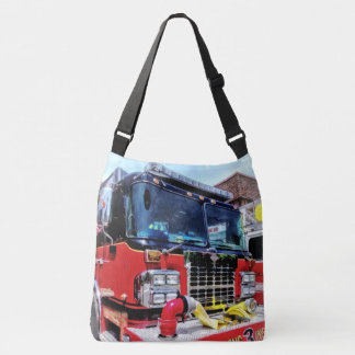 Front of Fire Truck With Hose Crossbody Bag