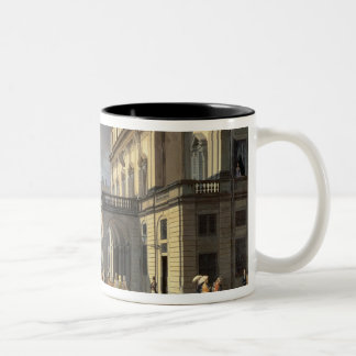 Front of La Scala Theatre, 1852 Two-Tone Coffee Mug