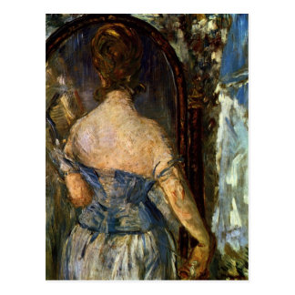 Front of the mirror - Edouard Manet Postcard