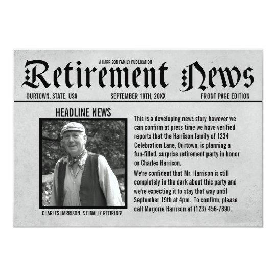 Retirement Invitations & Announcements | Zazzle Canada