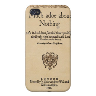Front Piece to Much Ado About Nothing Quarto Case For iPhone 4