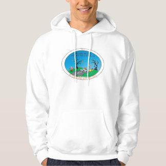 Front Print Autumn Run Hooded Sweatshirt