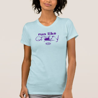 Front-Purple: Run Like Crazy (biggest) T-Shirt